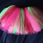 no sew tutu, how to make a no sew tutu, crochet waistband no sew tutu