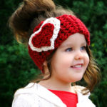 crochet headband, crochet heart pattern, crochet headband pattern, free crochet patterns, how to crochet a heart step by step