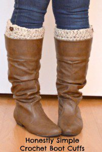 crochet boot cuff pattern free, super simple crochet boot cuff pattern