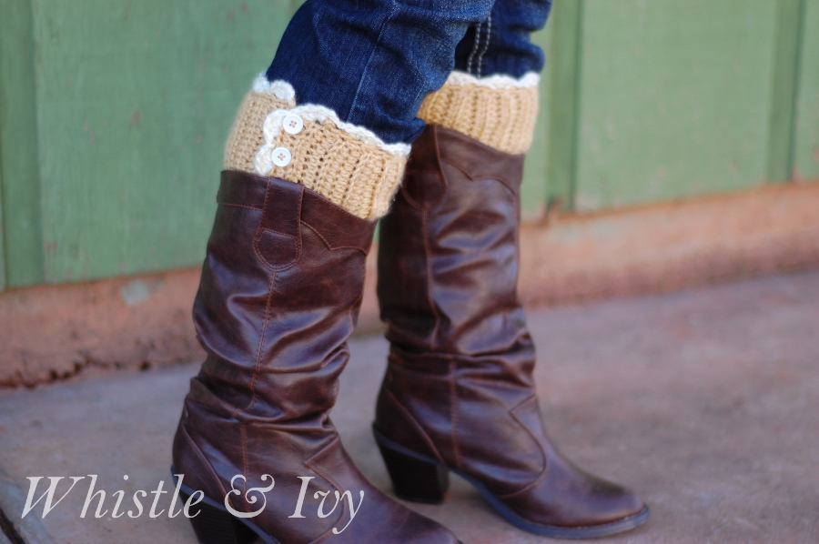 Lacy Button Boot Cuffs Free Crochet Pattern Diyfromhome