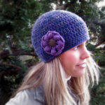 crochet hat pattern, free crochet hat patterns, crochet hat pattern with flower