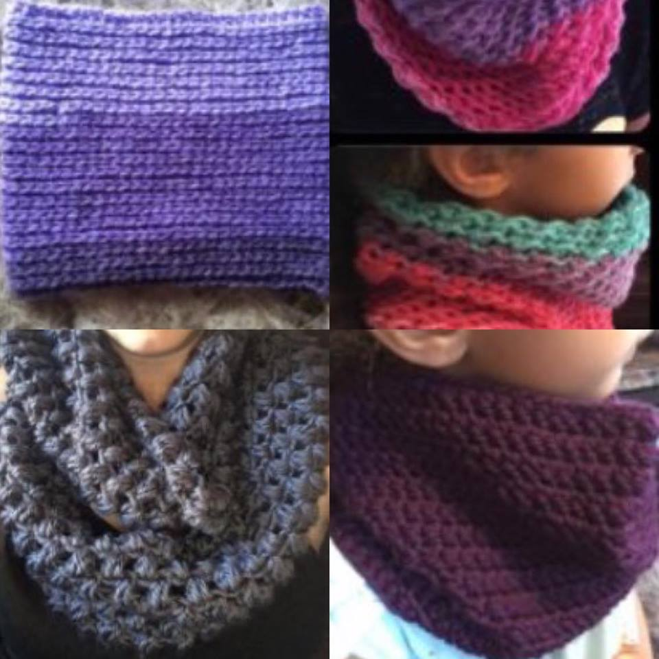 scarves and neck warmers free crochet patterns - DIY From Home