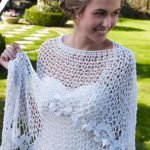 crochet bridal shawl, free wedding shawl patterns, beautiful bridal shawl, crochet bridal wrap pattern, easy crochet shawl