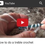 treble crochet, how to do a treble crochet stitch, crochet for beginners