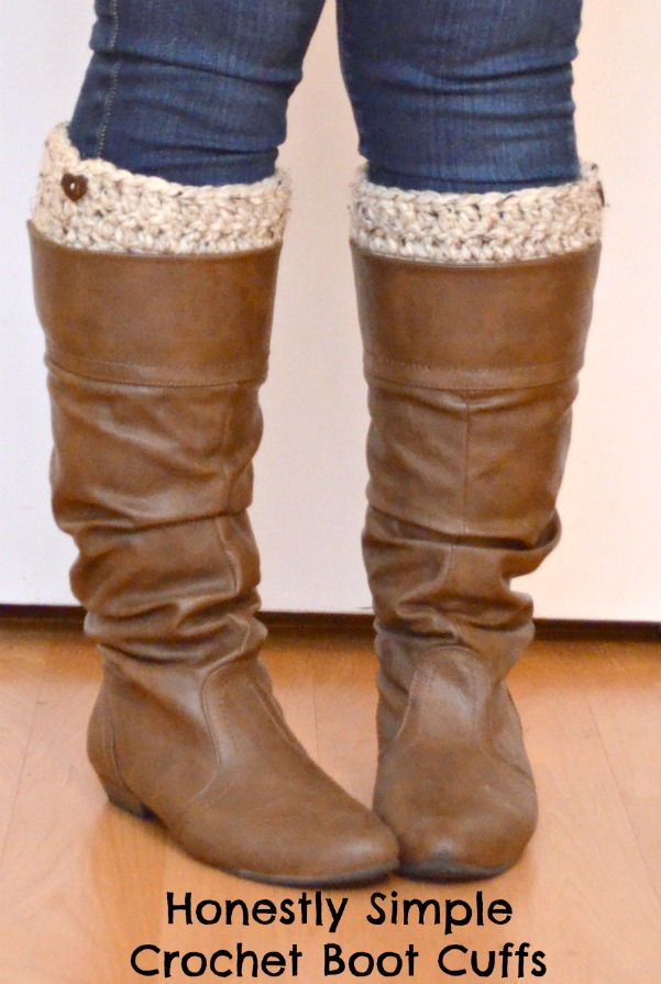Honestly Simple Crochet Boot Cuffs Free Pattern Diyfromhome