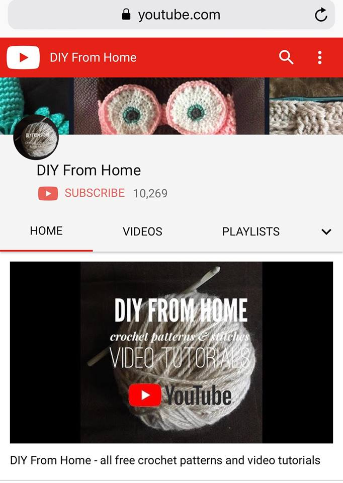 Diy From Home On Youtube Free Crochet Patterns And Video Tutorials