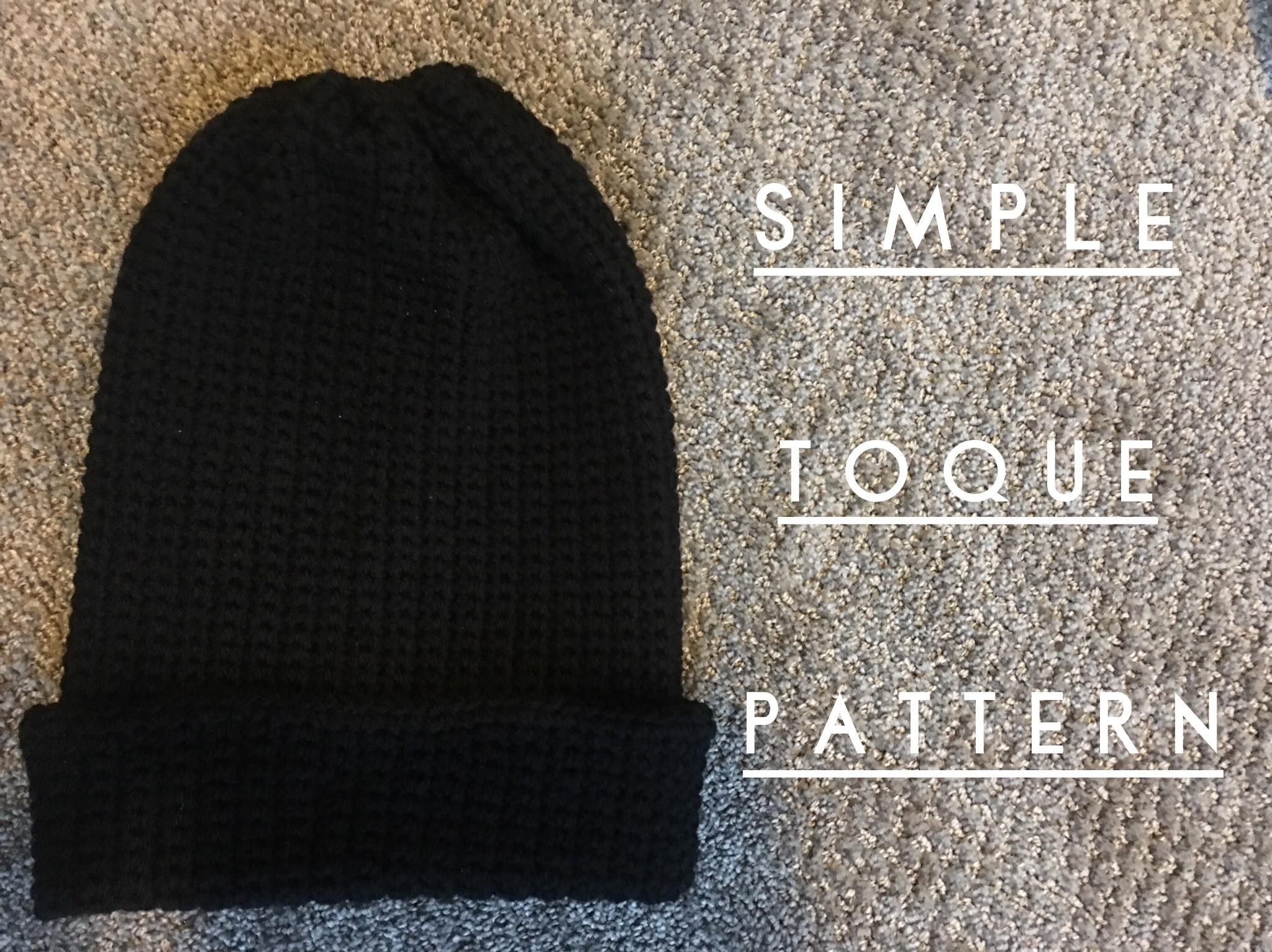 simple toque crochet pattern - DIY From Home